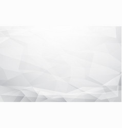 abstract white and grey polygonal mosaic vector image