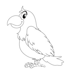 animal doodle for parrot bird vector image