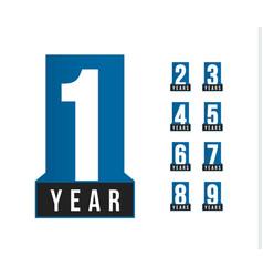 anniversary icon birthday logo template vector image