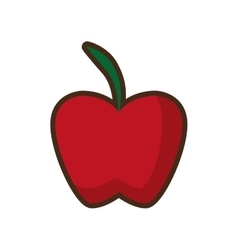 Apple fruit health icon desing vector