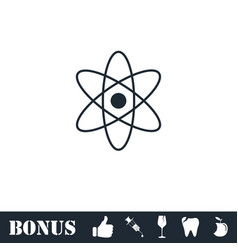 Atom icon flat vector