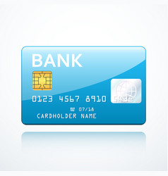 bank card icon vector image