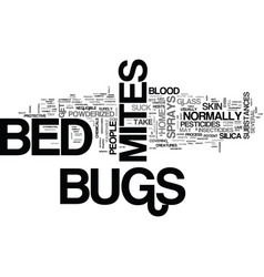 Bed bugs mites spray text word cloud concept vector