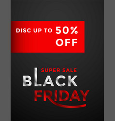 black friday sale banner layout template design vector image