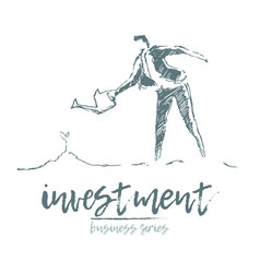business successful a investment sprout man vector image