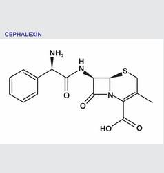 cephalexin formula vector image
