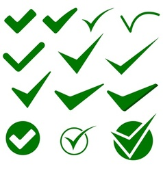 Check mark object icons vector