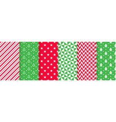 Christmas seamless pattern festive wrapping paper vector