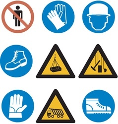 conctructing signs vector image