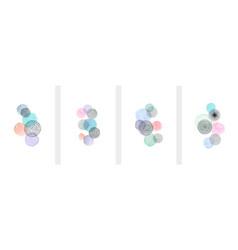 creative minimalist hand painted abstract art vector image