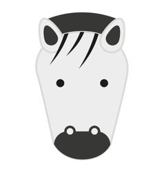 cute zebra isolated icon design vector image