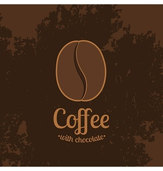 Dark Textured Background with Coffee Bean vector