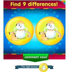 Differences the funny egg 2 vector