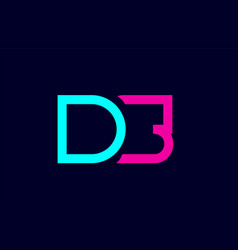 ds d s blue pink colorful alphabet alphabet vector image