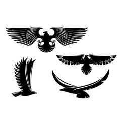 Eagle symbols and tattoo vector