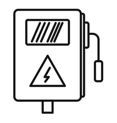 Electric box icon outline style vector