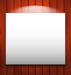 empty frame on wooden with light - vector image