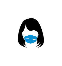 female face mask icon design template vector image