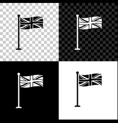 flag great britain on flagpole icon isolated on vector image