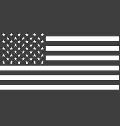 flag usa or american american black vector image