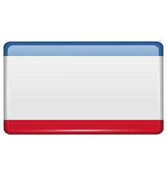Flags Crimea in the form of a magnet on vector