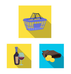 food and drink icon set of vector image