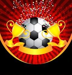 football and trophy vector image