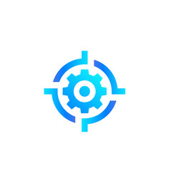 gear and target logo vector image