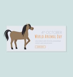 global animal day landing page template vector image