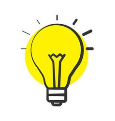 Good idea color icon vector