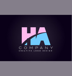 ha alphabet letter join joined letter logo design vector image