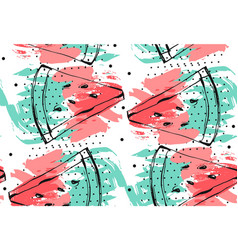 hand drawn abstract collage seamless vector image