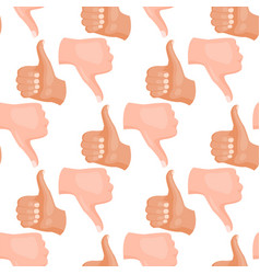 hands deaf-mute seamless pattern background vector image