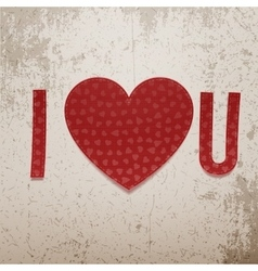 I love You Abbreviation vector image