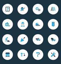 Industry colorful icons set collection of worker vector