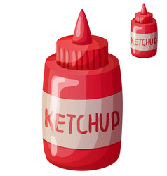 ketchup isolated on white background detailed vector image