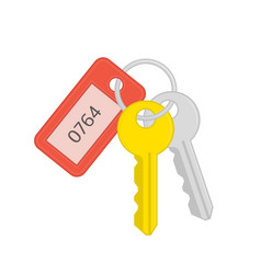 key and keychain vector image