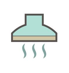 Kitchen hood icon vector
