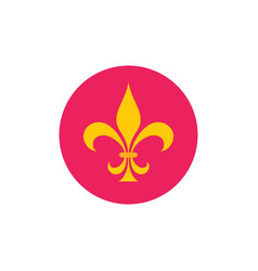 lily flower - concept icon in flat graphic design vector image