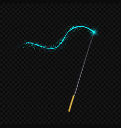 Magic wand isolated on black transparent vector