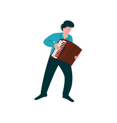male musician playing accordion man with musical vector image