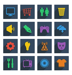 media icons set 2 vector image vector image