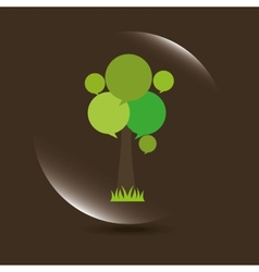 nature icon vector image