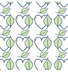 Nice organic leaf plant with heart background vector