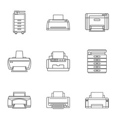 Political journalism icons set outline style vector
