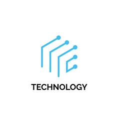 polygon with dot symbol logo design template vector image