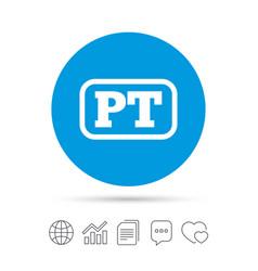Portuguese language sign icon pt translation vector