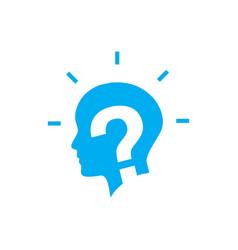 question man logo vector image
