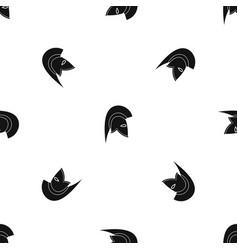 roman helmet pattern seamless black vector image vector image