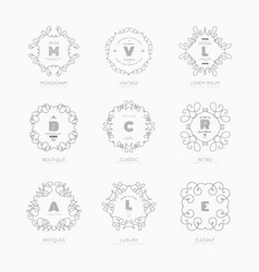 set luxury signs vector image
